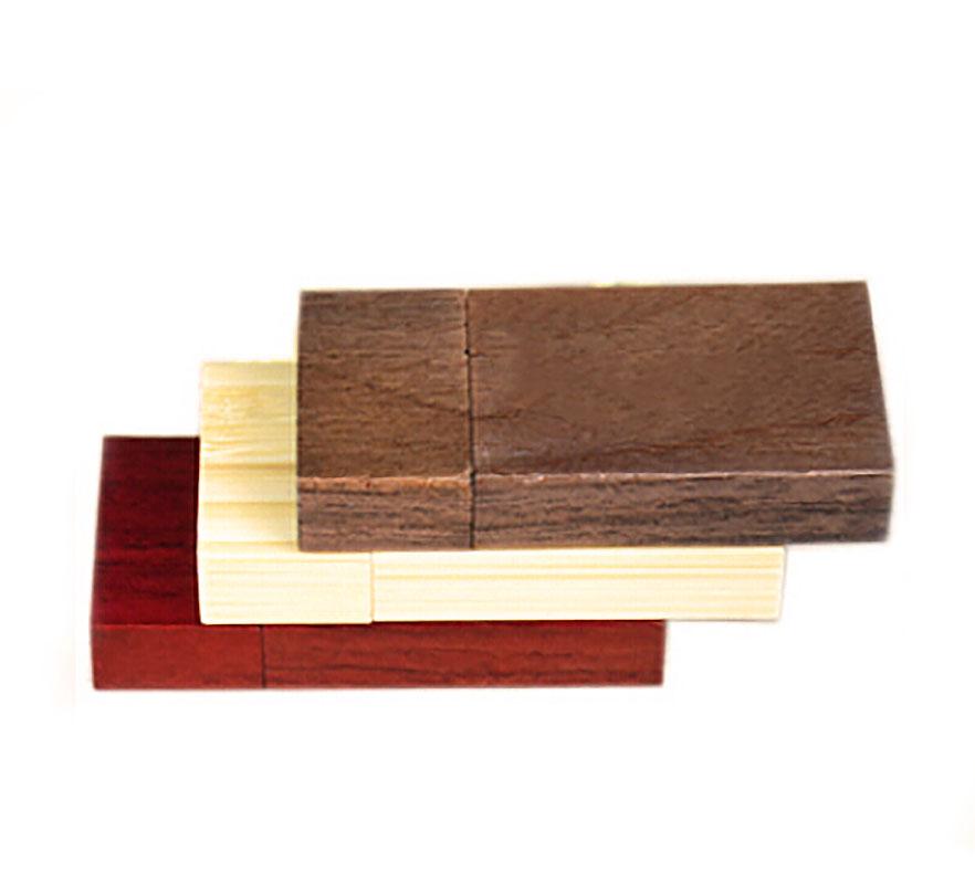 """Флешка Деревянная Плитка """"Plate Wood"""" F40"""