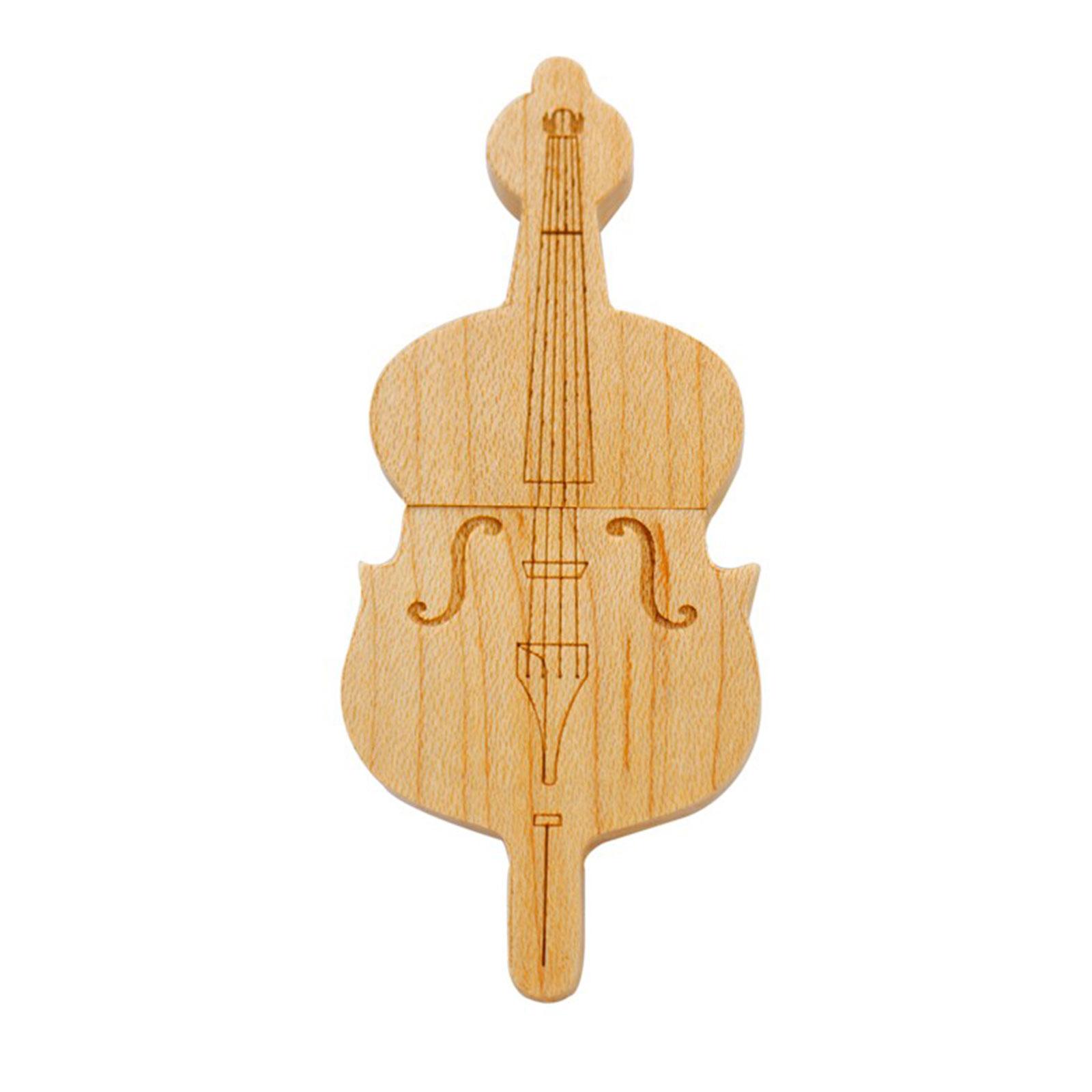 """Флешка Деревянная Скрипка """"Violin Wood"""" F26"""