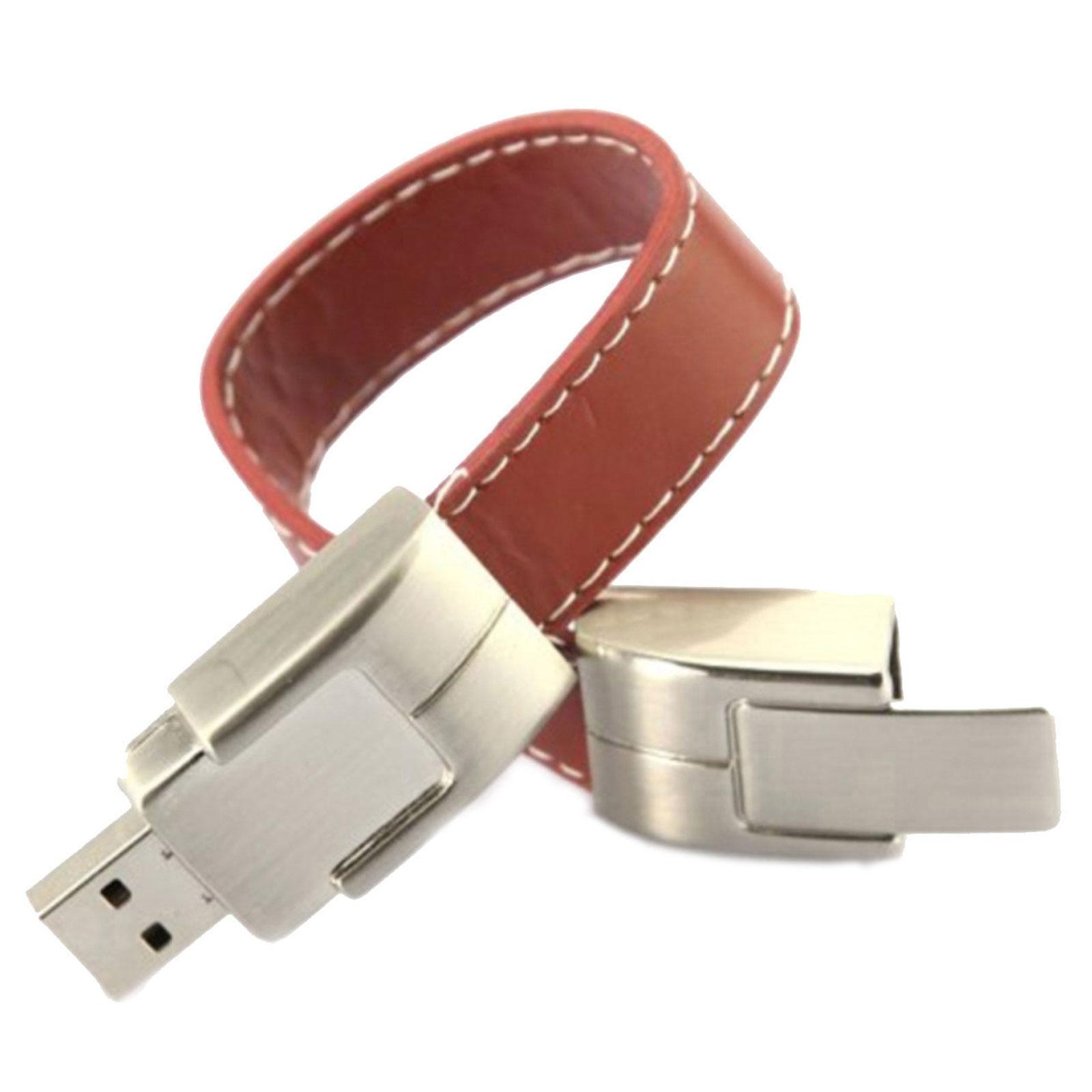 "Флешка Кожаная Браслет ""Bracelet Clasp"" N177"