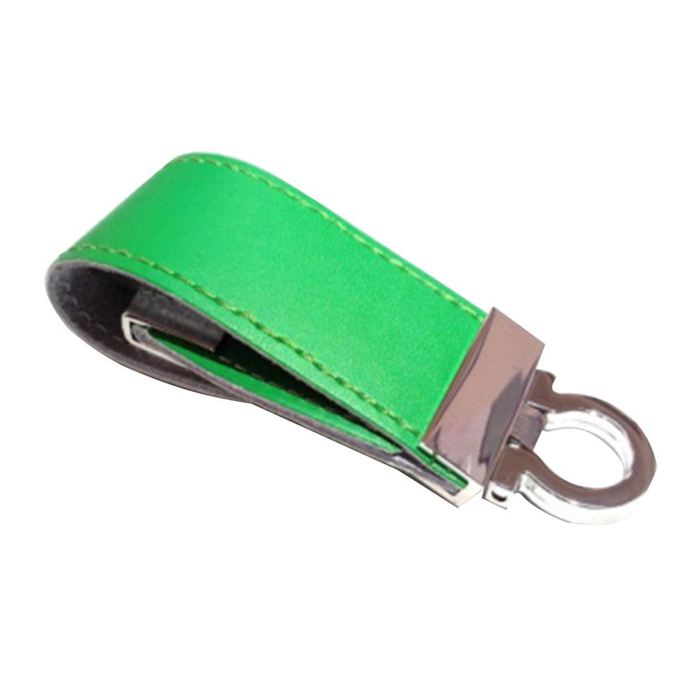 "Флешка Кожаная Меристос Лайт ""Meristos Light Leather"" N8 зеленый 4 Гб"