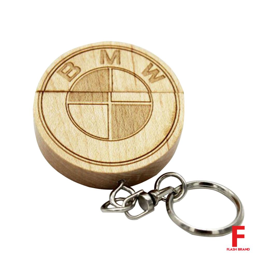 флешка деревянный брелок бмв Bmw Trinket F186 с нанесением