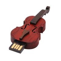 """Флешка Деревянная Скрипка """"Violin Cello"""" F3"""