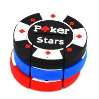 """Флешка Резиновая Покерная Фишка """"Poker Stars"""" Q53"""