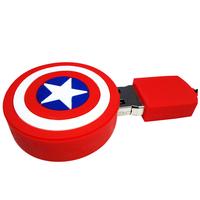 "Флешка Резиновая Щит Капитан Америка ""Captain America Shield"" Q190"