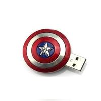 "Флешка Металлическая Щит Капитан Америка ""Captain America Shield"" R189"