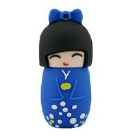 """Флешка Резиновая Японская Кукла """"Japanese Doll"""" Q365"""