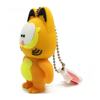 "Флешка Резиновая Кот Гарфилд ""Cat Garfield"" Q368"