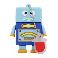 """Флешка Резиновая Робот Зендер """"Robot Zender"""" Q393"""