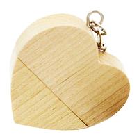 "Флешка Деревянная Сердце ""Heart Wood"" F66"