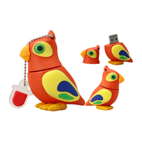 """Флешка Резиновая Попугай """"Parrot"""" Q377"""