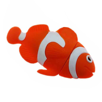 "Флешка Резиновая Рыбка Клоун ""Fish Clown"" Q102"