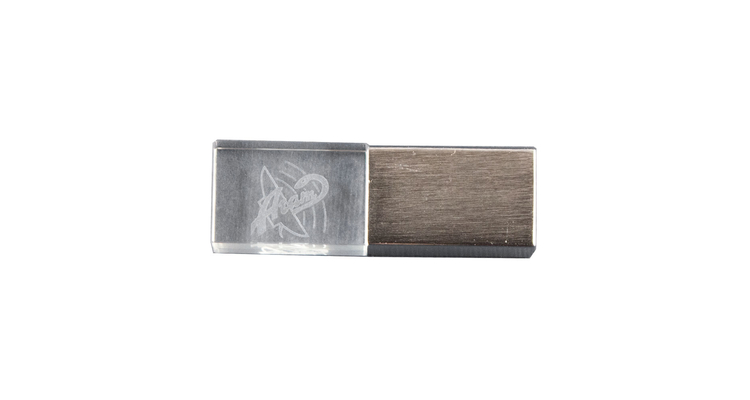 "Флешка Стеклянная Кристалл ""Crystal Glass Metal"" W14, Гравировка 3D"