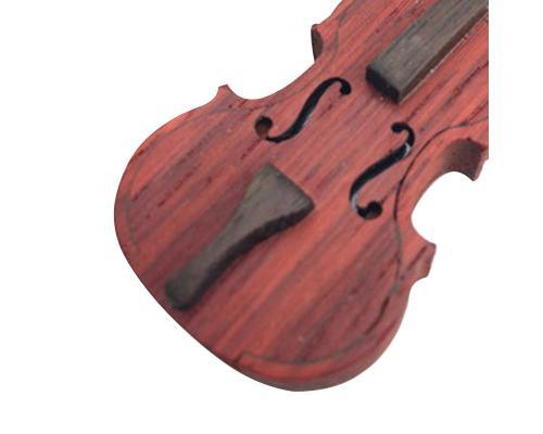 """Флешка Деревянная Скрипка """"Violin Cello"""" F3 коричневая 32 Гб"""