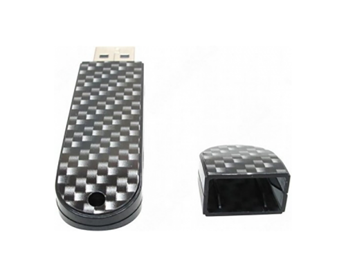 "Флешка Карбоновая ""LuxMini 920 Carbon"" L88 черная 1 Гб"
