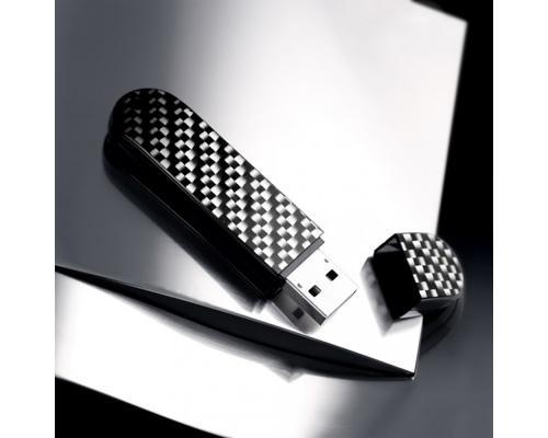 "Флешка Карбоновая ""LuxMini 920 Carbon"" L88 черная 32 Гб"