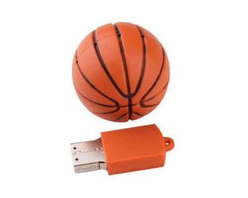 """Флешка Резиновая Баскетбольный Мяч """"Basketball"""" Q141"""