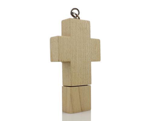 "Флешка Деревянная Крест ""Cross"" F112"