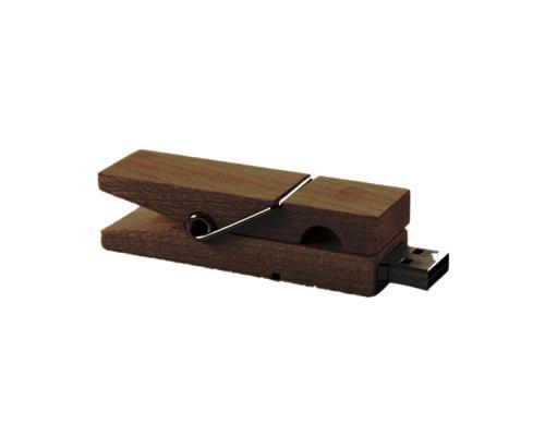 "Флешка Деревянная Прищепка ""Pin Wood"" F115"