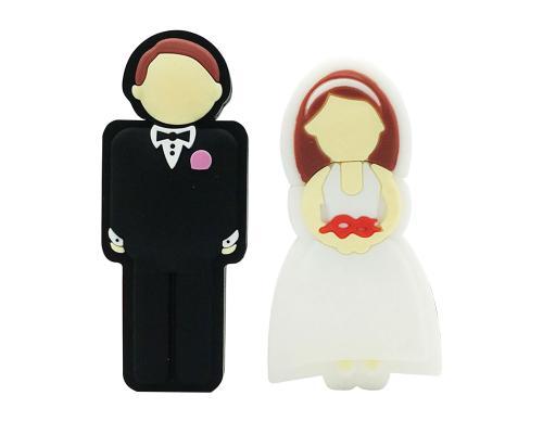 """Флешка Пластиковая Свадьба Муж и Жена """"Wedding Husband and Wife"""" S180"""