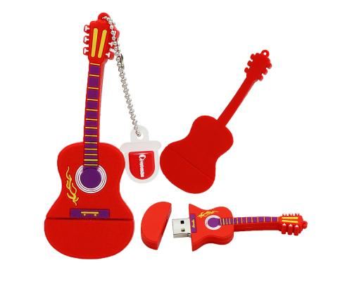 """Флешка Резиновая Гитара """"Guitar"""" Q148"""