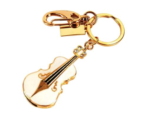 """Флешка Металлическая Скрипка """"Violin Key"""" R4 белая 512 Гб"""