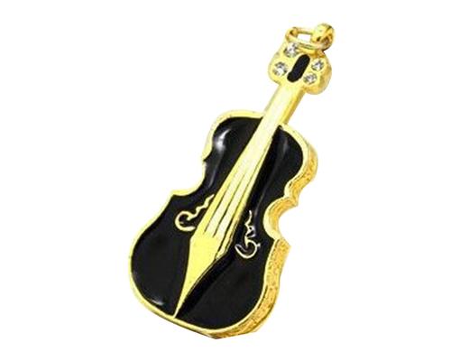 """Флешка Металлическая Скрипка """"Violin Key"""" R4 черная 128 Гб"""
