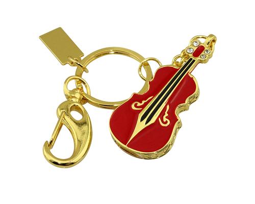 """Флешка Металлическая Скрипка """"Violin Key"""" R4 красный 8 Гб"""