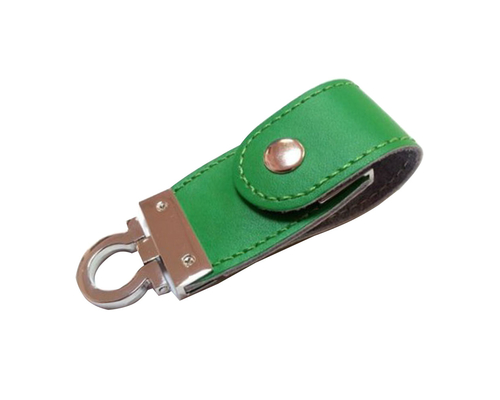 "Флешка Кожаная Меристос Лайт ""Meristos Light Leather"" N8 зеленый 16 Гб"