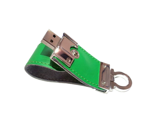 "Флешка Кожаная Меристос Лайт ""Meristos Light Leather"" N8 зеленый 256 Гб"