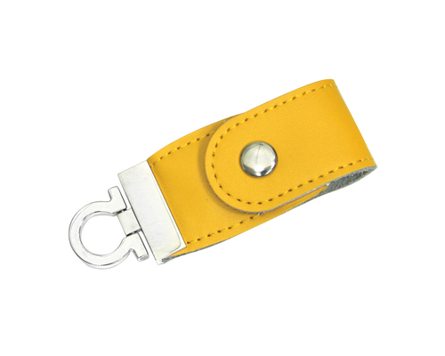 """Флешка Кожаная Меристос Лайт """"Meristos Light Leather"""" N8 желтый 2 Гб"""