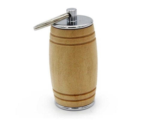 "Флешка Деревянная Бочка Пива ""Beer Barrel"" F36 бежевая 64 Гб"