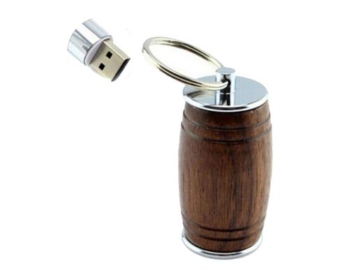 """Флешка Деревянная Бочка Пива """"Beer Barrel"""" F36 коричневая 32 Гб"""