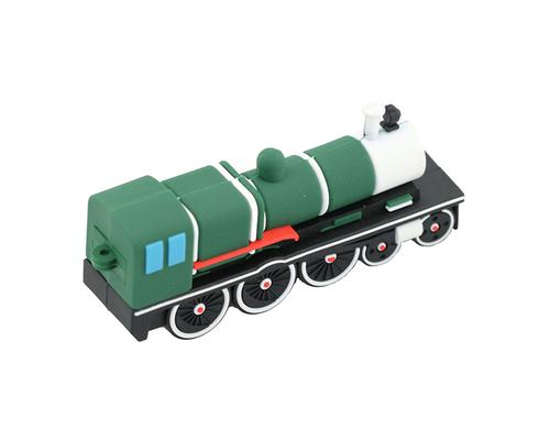 """Флешка Резиновая Ретро Поезд """"Retro Train"""" Q84 зеленый 2 Гб"""