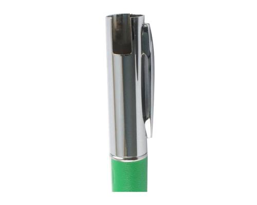 "Флешка Металлическая Ручка Наппа ""Pen Nappa Skin"" R162 зеленый 8 Гб"