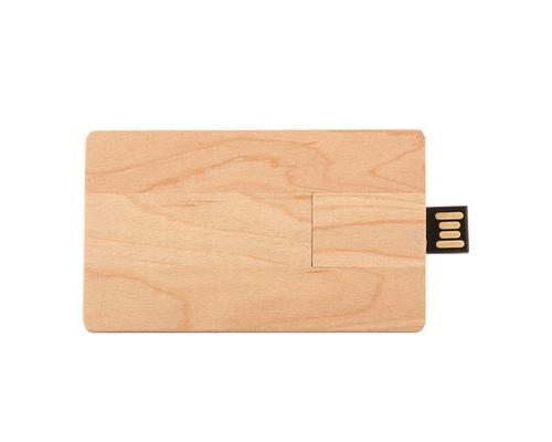 "Флешка Деревянная Визитка ""Business Card Wood"" F27 бежевый 1 Гб"