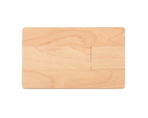 "Флешка Деревянная Визитка ""Business Card Wood"" F27 бежевый 8 Гб"