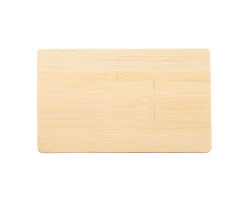 """Флешка Деревянная Визитка """"Business Card Wood"""" F27 желтый 512 Гб"""