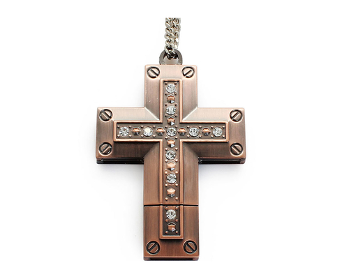 "Флешка Металлическая Крест ""Cross"" R404"