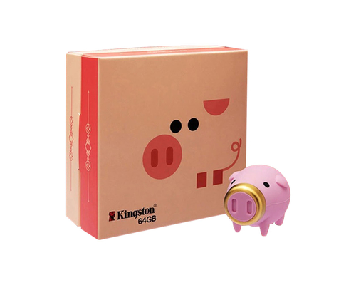 "Флешка Пластиковая Свинка ""Pig King"" S456"