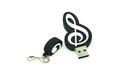 """Флешка Резиновая Скрипичный Ключ """"Treble Clef"""" Q151 черный 32 Гб"""