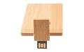 """Флешка Деревянная Визитка """"Business Card Wood"""" F27 оранжевый 32 Гб"""