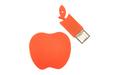 """Флешка Силиконовая Яблоко """"Apple"""" V464 красный 1 Гб"""