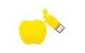 """Флешка Силиконовая Яблоко """"Apple"""" V464 желтый 256 Гб"""