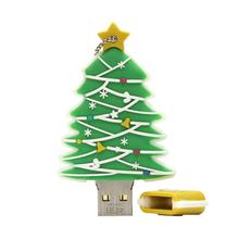 "Флешка Резиновая Елка ""Christmas Tree"" Q441 зеленый 16 Гб"