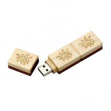 "Флешка Деревянная Маджонг ""Mahjong Wood"" F43 белая 512 Гб"