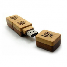 "Флешка Деревянная Маджонг ""Mahjong Wood"" F43 бежевая 512 Гб"