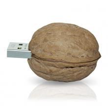 "Флешка Резиновая Грецкий орех ""Walnut"" Q22 бежевый 512 Гб"