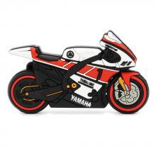 """Флешка Резиновая Мотоцикл Yamaha """"Motorcycle"""" Q96 красный 4 Гб"""