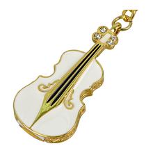 """Флешка Металлическая Скрипка """"Violin Key"""" R4 белая 4 Гб"""