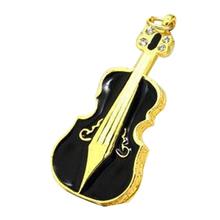 """Флешка Металлическая Скрипка """"Violin Key"""" R4 черная 4 Гб"""
